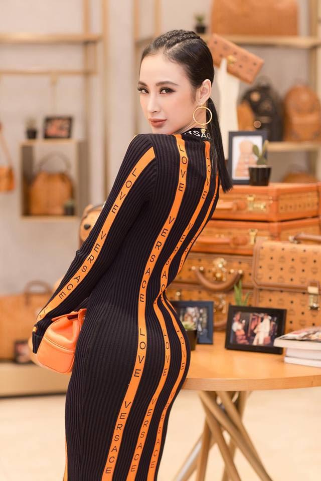 Bầu bí 2 lần nhưng Huyền Baby diện váy ôm khoe đường cong chẳng kém Angela Phương Trinh - Ảnh 3.