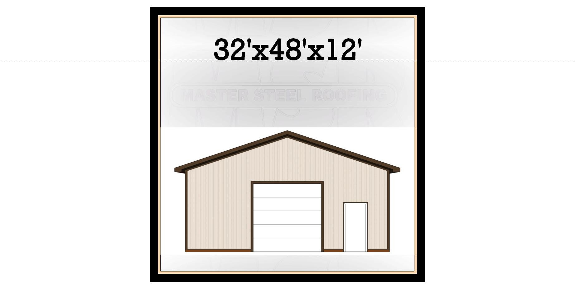 32 X 48 X 12 Post Frame Building Kit Master Steel Buildings