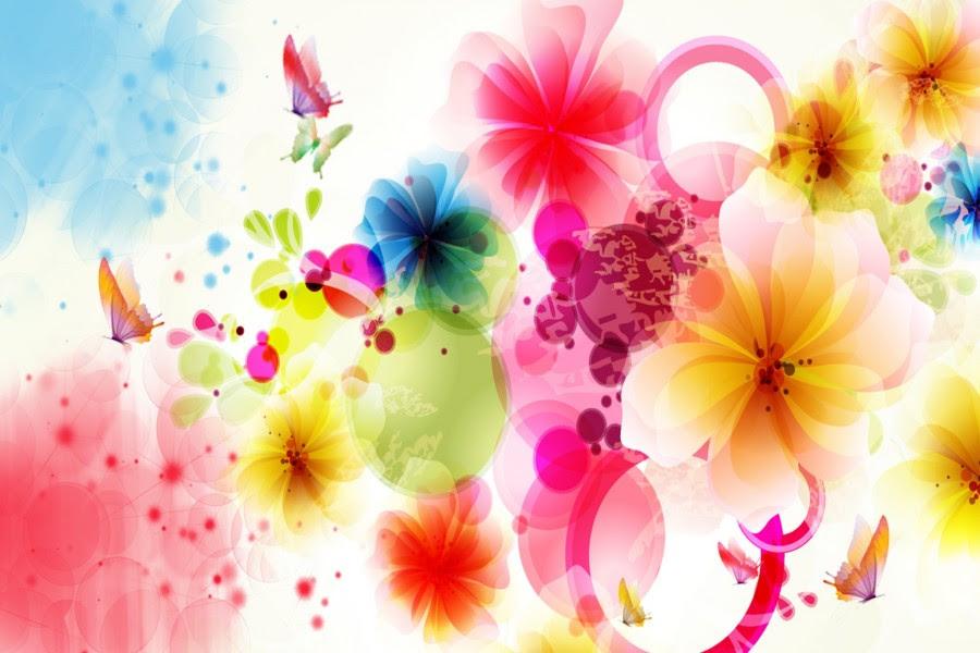 Flores Y Mariposas De Vivos Colores 79146