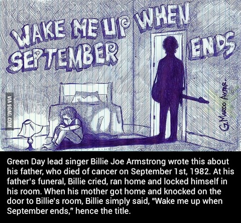 WAKE ME UP WHEN SEPTEMBER ENDS..