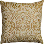 Rizzy Home T10486 22 in. x 22 in. Gold Throw Pillow