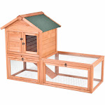 """56"""" Pet Supplies Wooden House Rabbit Hutch Chicken Coops Cage PS6869"""
