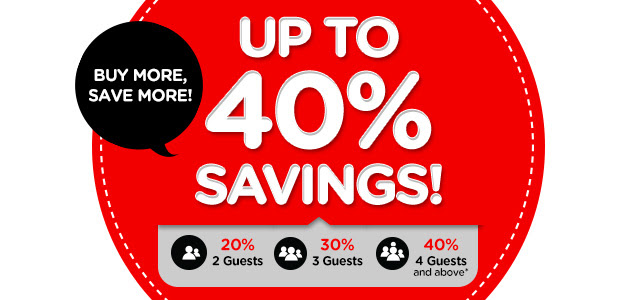 Buy More, Save More! Up to 40% Savings!