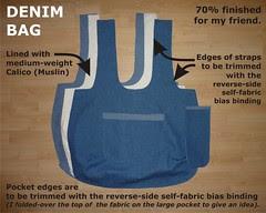 Denim Bag 70 percent finished