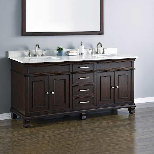 Vanities Costco Sinks Bathroom Canada Globorank Throughout Single Sink