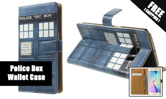 Awesome Police Box Wallet Phone Case