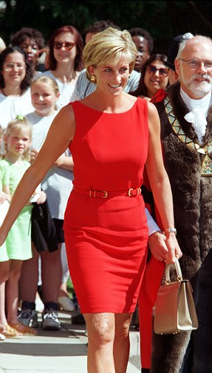 Diana at her last public engagement in Britain before she died