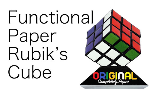 build a functional rubik s cube out of paper dreamt up by cuber