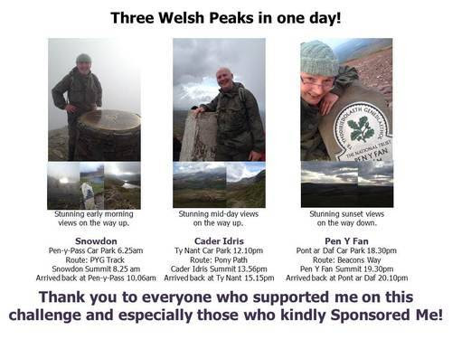 Corporate Social Responsibility 2014: Three Welsh Peaks Challenge