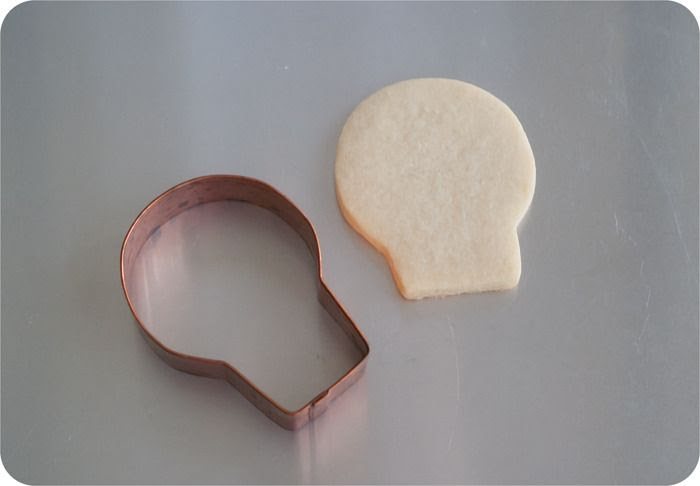 skull cookie cutter used to make sheep cookies