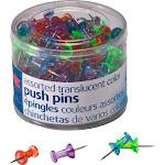 "OIC Translucent Push Pins - 0.5"" Length x 0.3"" Diameter - 20"