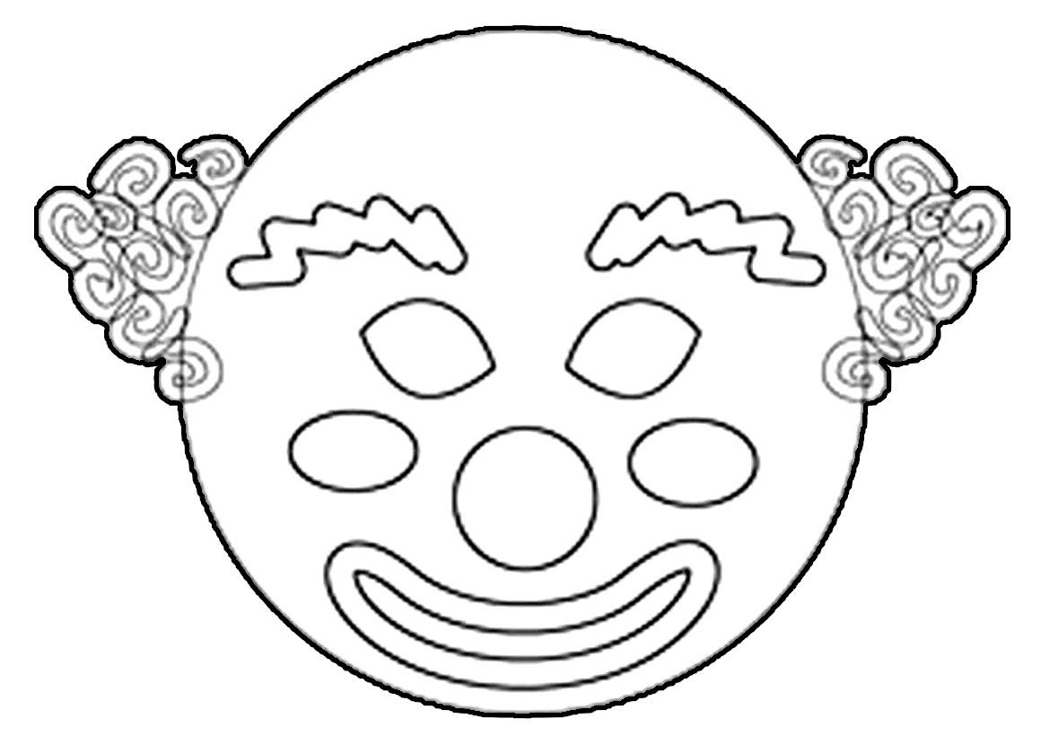 Maestra de infantil payasos caretas para imprimir dibujos para colorear - Coloriage masques ...