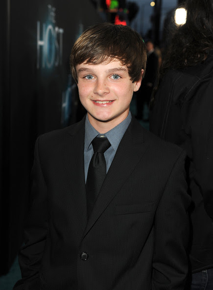 """Actor Chandler Canterbury attends the premiere of Open Road Films """"The Host"""" at ArcLight Cinemas Cinerama Dome on March 19, 2013 in Hollywood, California."""