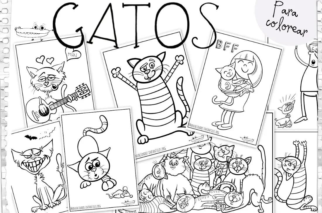 Dibujos De Gatos Para Colorear Actividades Para Niños