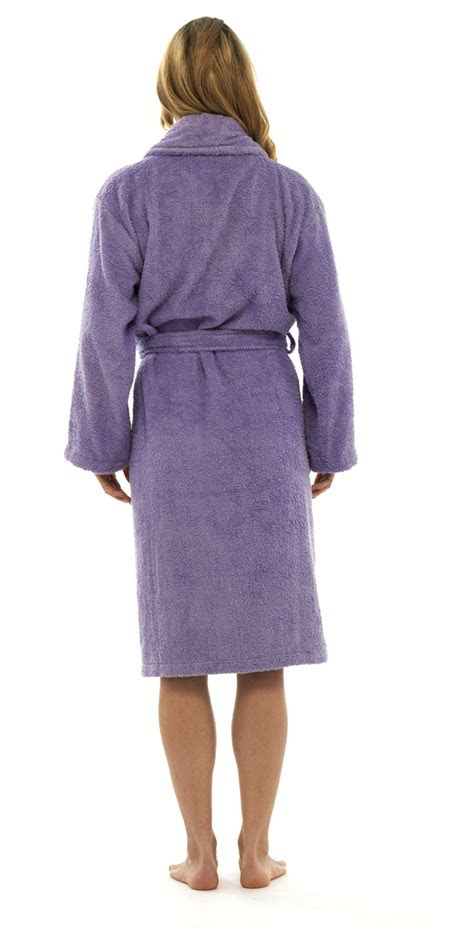 womens pure  cotton luxury towelling bath robes