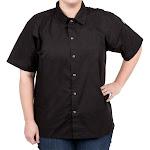 Chef Revival CS006BK-L Black Cook Shirt, Large