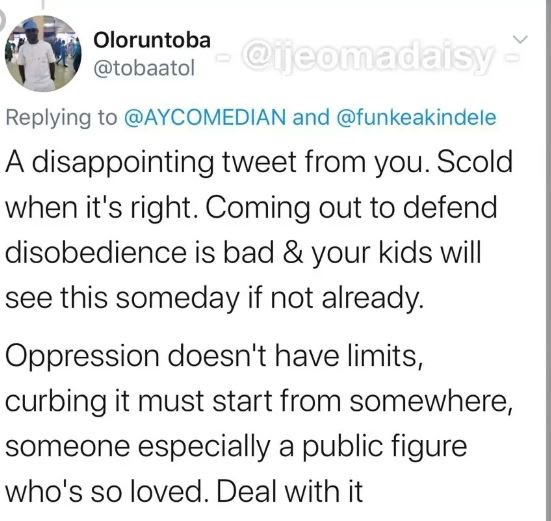 MAD OOO!! Nigerians Dragged AY Comedian For Saying This About Funke Akindele (See Tweet)