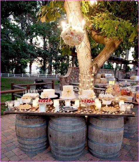 Wedding Reception On A Budget Backyard   Wedding