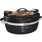 Crock-Pot - ThermoShield Cook and Carry 6-Quart Slow Cooker - Black