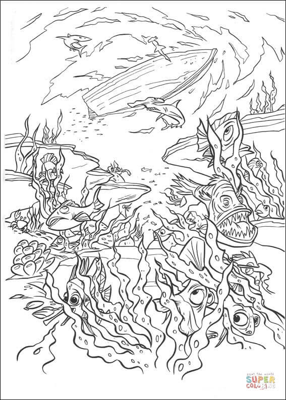 The Deep Cartoon Coloring Pages - Coloring And Drawing