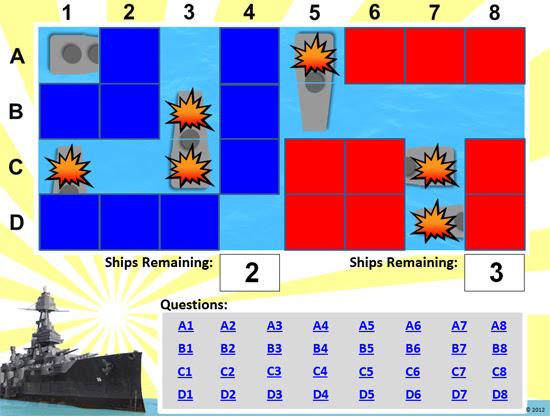 Battleship Powerpoint Game Template Classroom Game