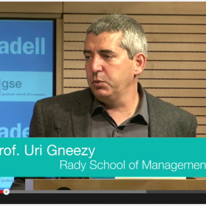 Video: Highlights of Prof. Uri Gneezy Talk in Barcelona, 2014