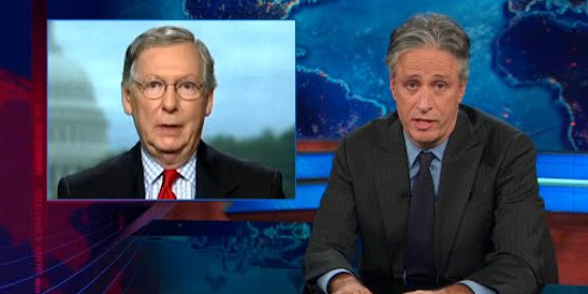 Jon Stewart Blasts GOP Over Shutdown: When The Giants Lost, They Didn't Shut Down The NFL