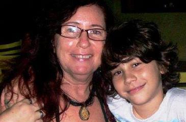 Ela foi morta junto com o filho. Foto: Facebook/Reprodução