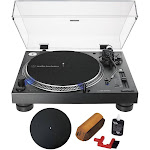 Audio-Technica Direct-Drive Professional DJ Turntable Black + Essentials Bundle