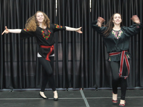 Ukrainian girls dancing