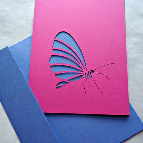 papercut butterfly card
