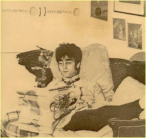 John Lennon /w Safe As Milk Stickers