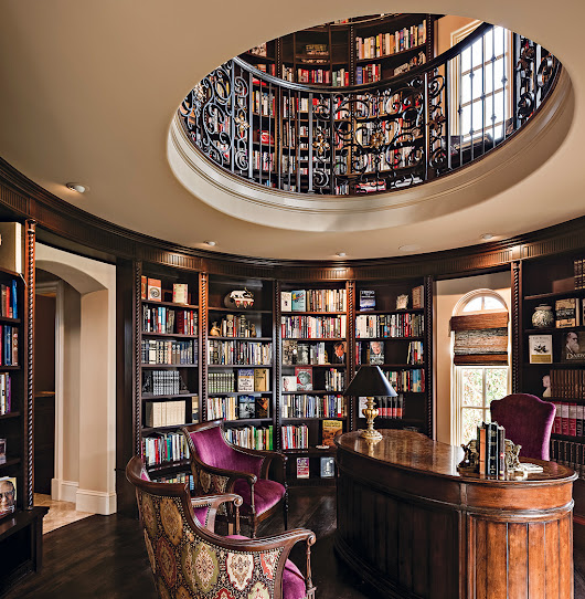 Tuscan-Inspired Home Library Comes Full Circle: A Design Connection, Inc. Featured Project