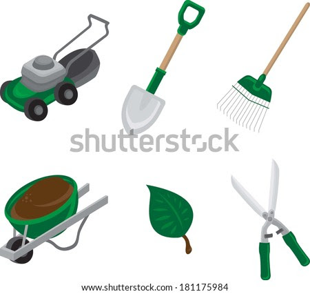 New Lawncare & Landscaping Vector Icons available now at Shutterstock