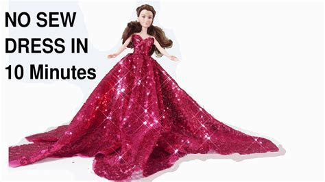How to make No Sew Barbie Doll dress/wedding party gown