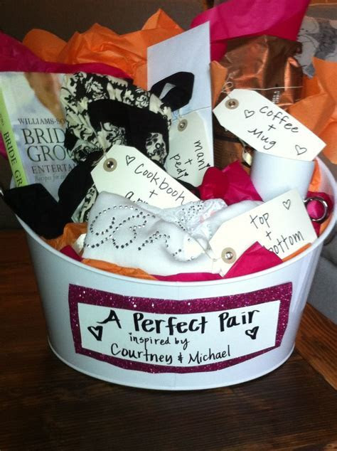 Bridal Shower Gift   perfect pairs basket. All the gifts