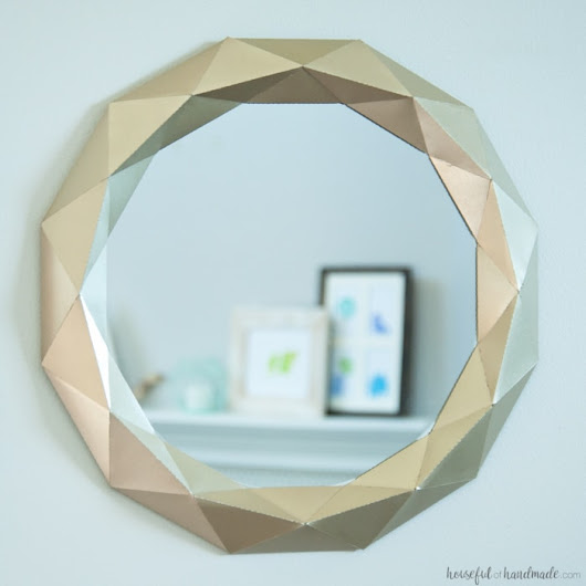 Easy $10 Anthropologie Mirror Knock Off Tutorial - a Houseful of Handmade