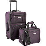 Rockland Rio 2-Piece Carry-On Luggage Set, Purple