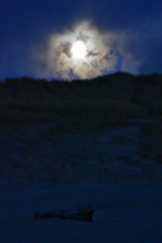Cloudy Moonrise over the Kilchoman dunes, Isle of Islay