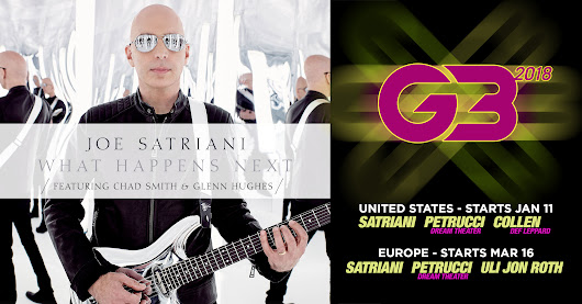 JOE SATRIANI - WHAT HAPPENS NEXT + G3 TOUR 2018