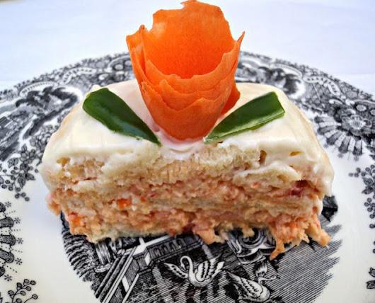 Pastel Frío de Salmón - Olor a hierbabuena