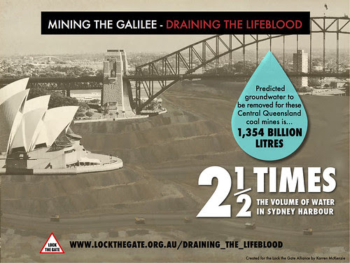 Galilee Basin Mines = 2.5 Sydney Harbours
