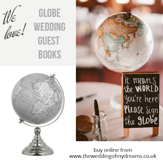 Globe Wedding Guest Books! For Travel Themed Weddings.