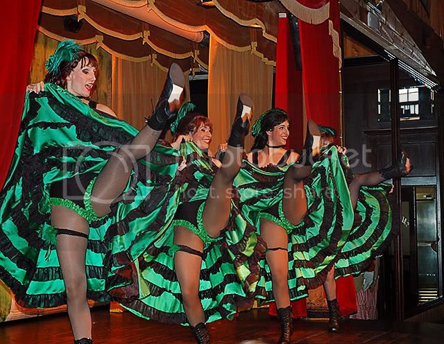 Can Can Girls at Far West Saloon, Port Aventura, Spain [enlarge]