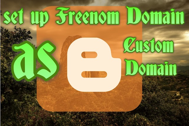 How to Set Up Freenom Domain As Blogger Custom Domain? #2