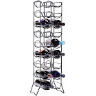 Oenophilia Scaffovino 18 Bottle Floor Wine Rack Black