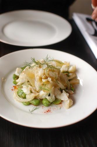 salt cod and fava bean salad