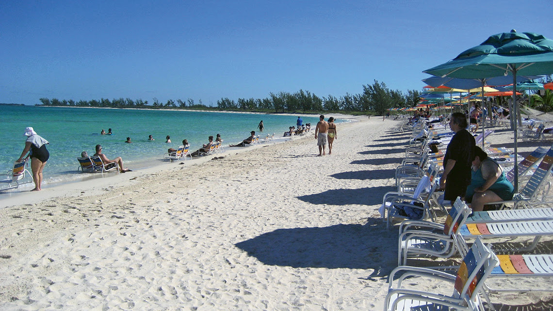 Disney Cruise Line's private island Castaway Cay in the Bahamas. Photo Credit: TW photo by Tom Stieghorst