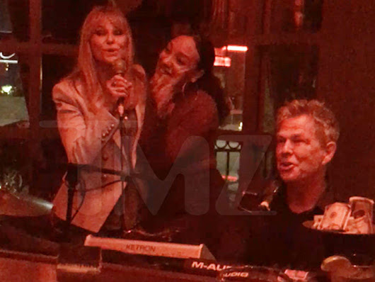 David Foster & Christie Brinkley Sing at TMZ Photog's Birthday Party (VIDEO)