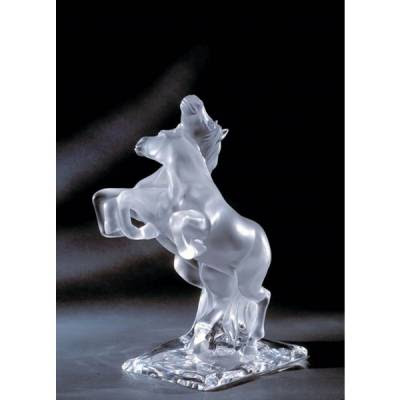 Lalique, Two wild Horses, sculpture, Muse & Lalique